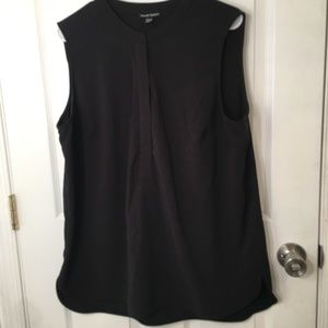 Hilary Radley Black 1/2 Zipper Tunic Sleeveless